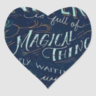 Magical Universe Heart Sticker