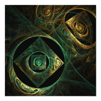 Magical Vibrations Abstract Art 13 Cm X 13 Cm Square Invitation Card