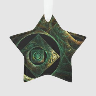 Magical Vibrations Abstract Art Acrylic Star Ornament