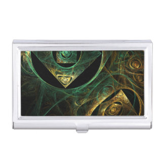 Magical Vibrations Abstract Art Business Card Holder