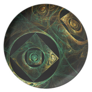 Magical Vibrations Abstract Art Plate