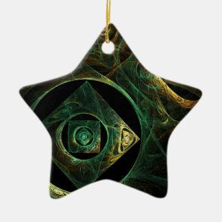 Magical Vibrations Abstract Art Star Ornament