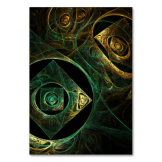 Magical Vibrations Abstract Art Table Card