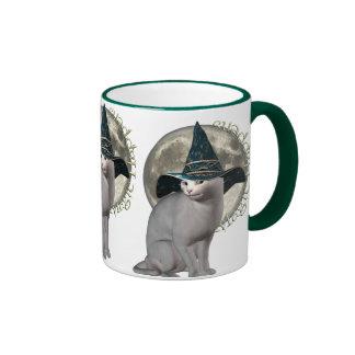 Magical White Cat Coffee Mugs