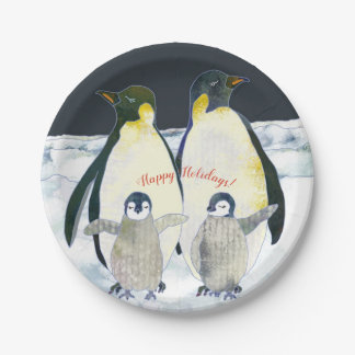 Magical Winter Holiday Season Celebration Paper Plate