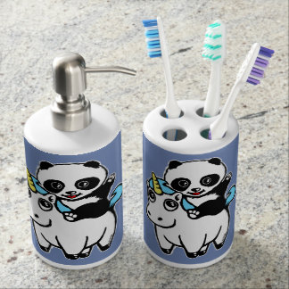 Magically cute soap dispenser and toothbrush holder