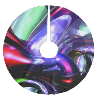 Magically Fantastic Abstract Brushed Polyester Tree Skirt
