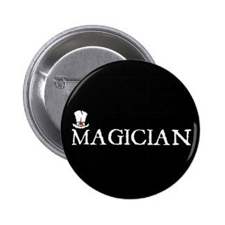 Magician and Hat 6 Cm Round Badge