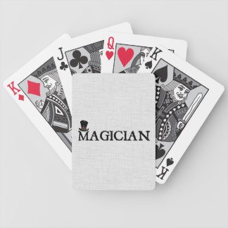 Magician and Hat Bicycle Playing Cards