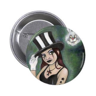 magician 6 cm round badge