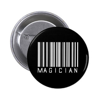 Magician Bar Code 6 Cm Round Badge