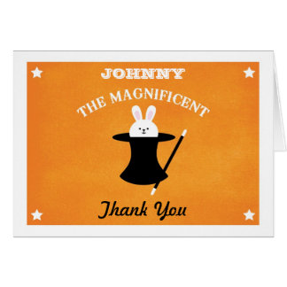 Magician Birthday Party Thank You Card