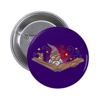 Magician book Grimoire wizard sorcerer being LOCK 6 Cm Round Badge