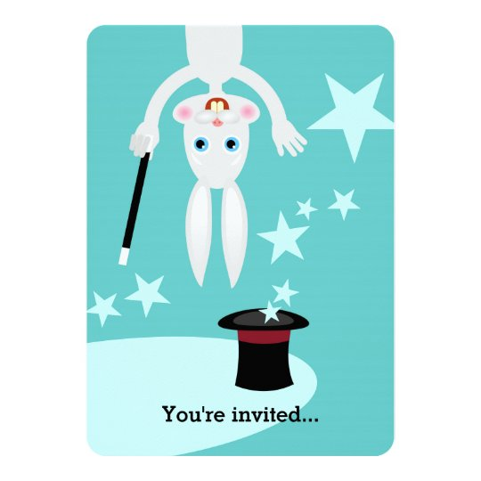 Magician boy birthday party invitation