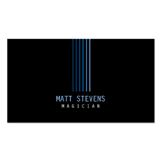 Magician Business Card Blue Beams
