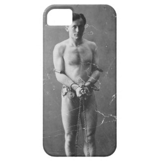 Magician Harry Houdini Standing In Chains iPhone 5 Covers