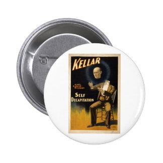 Magician Harry Kellar - self Decapitation Trick Pins