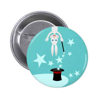 Magician kid birthday party 6 cm round badge
