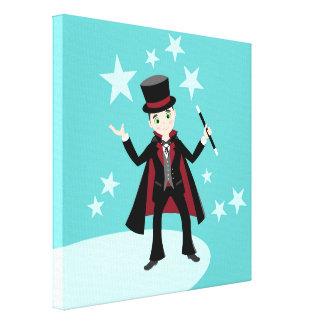 Magician kid birthday party canvas prints