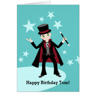 Magician Kid Birthday Party Card