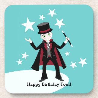 Magician Kid Birthday Party Beverage Coaster