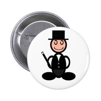 Magician (plain) 6 cm round badge