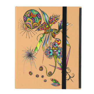 Magician - psychedelic character moon & sun art iPad case