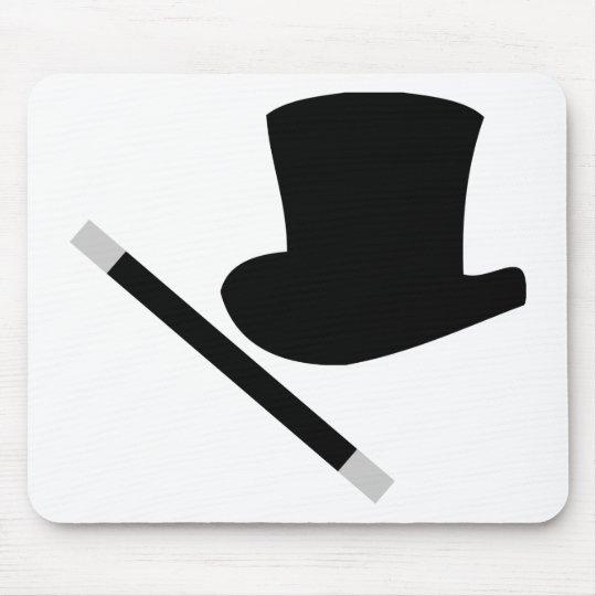 magician top hat and magic wand mouse mat