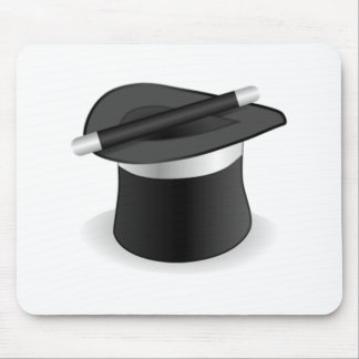 Magician Wand and Hat Mouse Mat