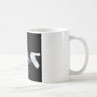 Magician wand and top hat trick coffee mugs
