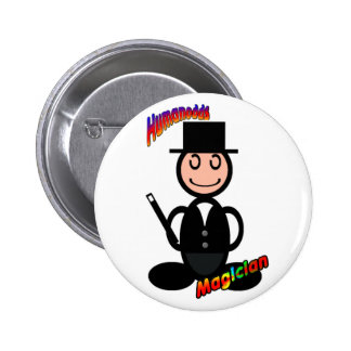 Magician (with logos) 6 cm round badge