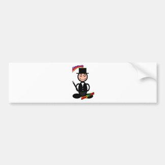 Magician with logos bumper sticker