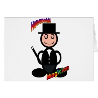 Magician (with logos) greeting cards