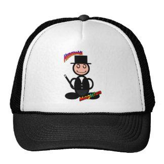 Magician with logos mesh hats