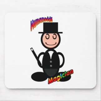Magician with logos mousepads