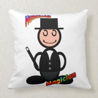 Magician with logos pillows