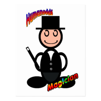 Magician (with logos) post cards
