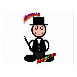 Magician (with logos) postcard