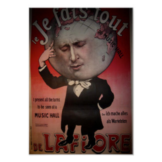 Magician witha Big Head Poster