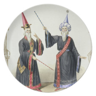 Magicians at the Carnival in Berlin, 1836 (colour Dinner Plates