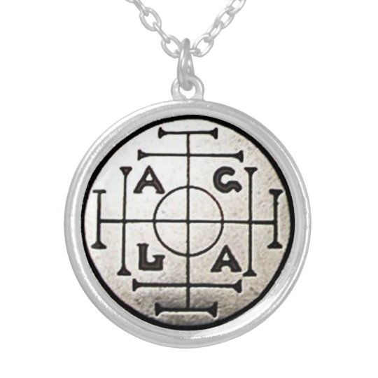 Magick AGLA Wealth & Prosperity Amulet Silver Plated