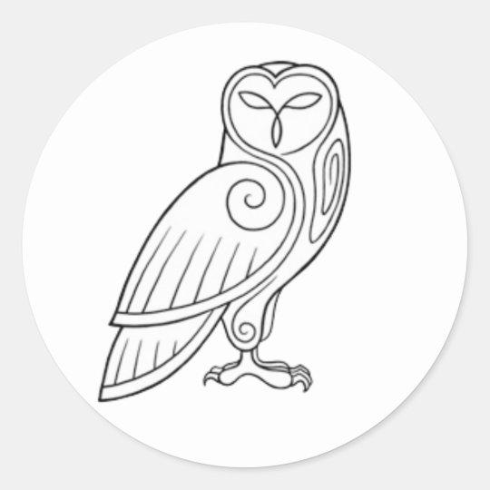 Magick - Owl Classic Round Sticker