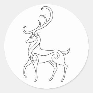 Magick - Stag Classic Round Sticker