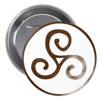 Magick - Triskele 7.5 Cm Round Badge