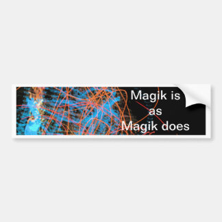 Magik is ... bumper sticker