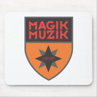 """Magik Muzik """"Orange/Red"""" Mousemats"""