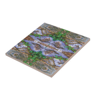 Magische Baumrinden Kunst Fliese Small Square Tile