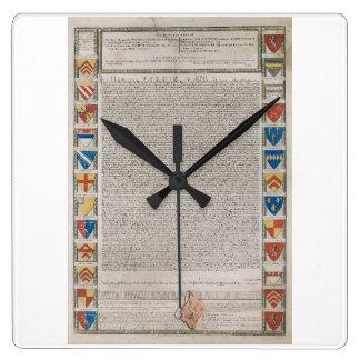 Magna Carta #2 Square Wall Clock