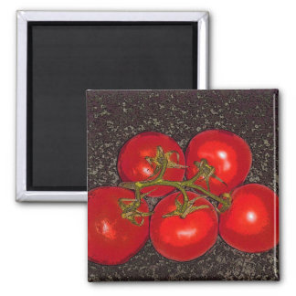 Magnet - 5 Red Tomatoes on the Vine