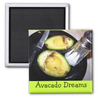 magnet-Avacado Dreams Square Magnet